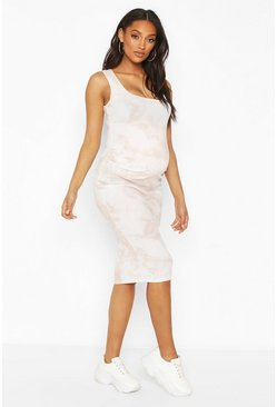 Blush Maternity Rib Scoop Neck Midi Dress