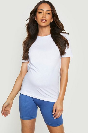 White Maternity Cotton T-Shirt