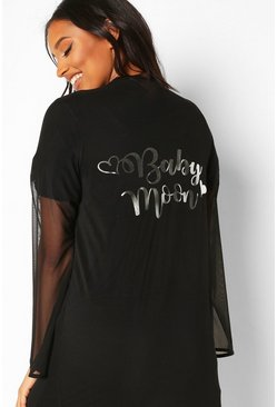 Black Maternity Babymoon Robe