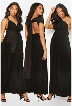 Black Maternity Multiway Maxi Dress