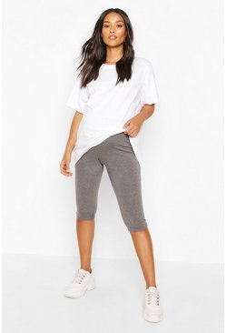 Charcoal Maternity Longline Cycling Short