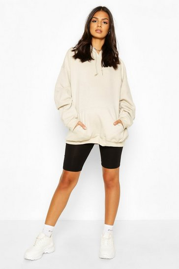 Stone Maternity Oversized Pocket Front Hoody