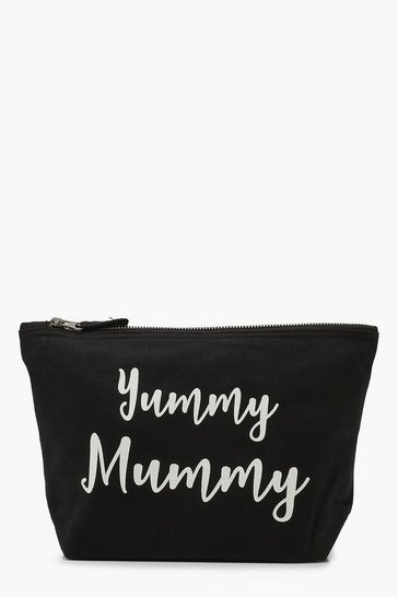Black Maternity Yummy Mummy Zip Pouch