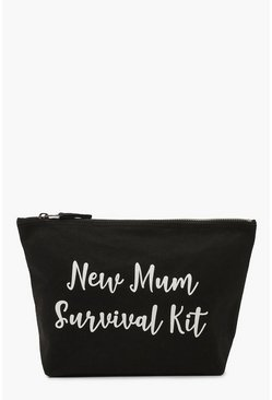 Maternity New Mum Survival Kit Zip Pouch , Black
