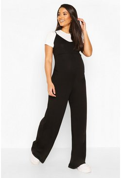 Black Maternity 2 in 1 T-Shirt Jumpsuit