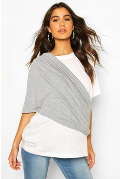 Grey marl Maternity Nursing Shawl