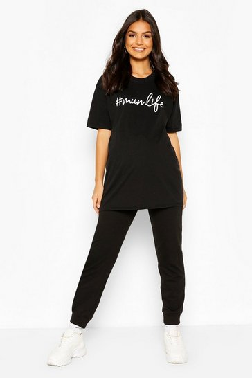 Black Maternity #Mumlife T-Shirt