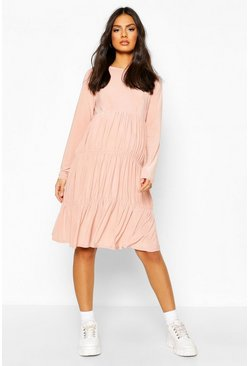 Rose Maternity Slinky Tiered Smock Dress