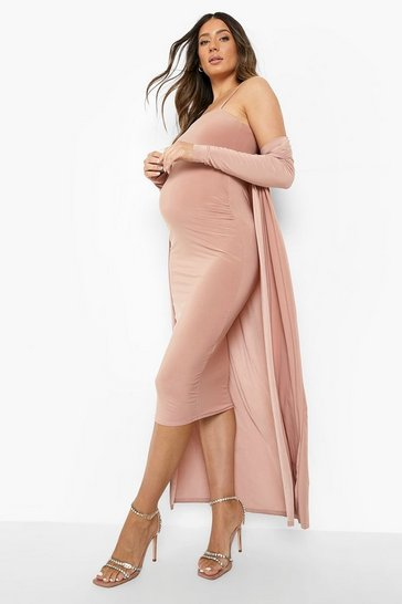 Rose Maternity Heavyweight Slinky Bodycon Co-ord Set