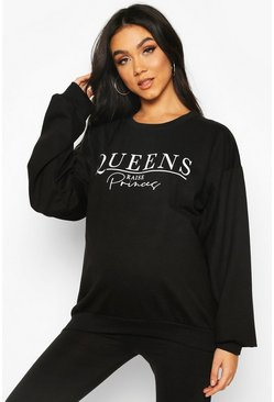 Black Maternity Queens Raise Princes Slogan Sweat