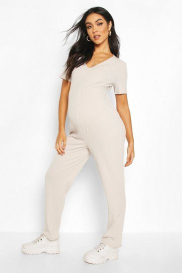 Light grey Maternity Slouchy Jumpsuit