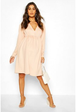 Blush Maternity Occasion Smock Dress