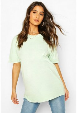 Sage Maternity Washed T-Shirt