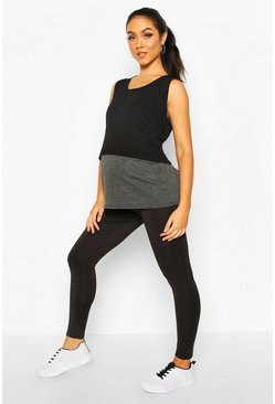 Black Maternity Over The Bump Activewear Legging
