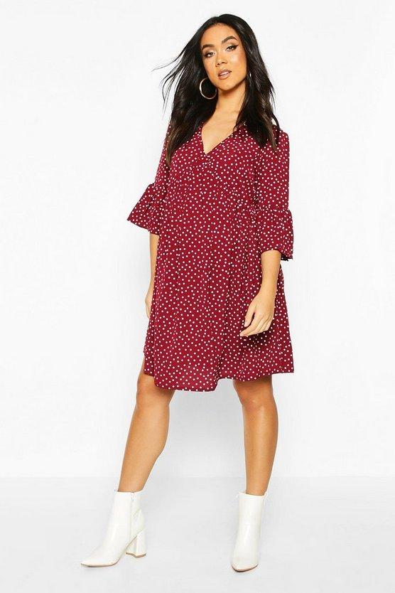 Maternity Polka Dot Smock Dress