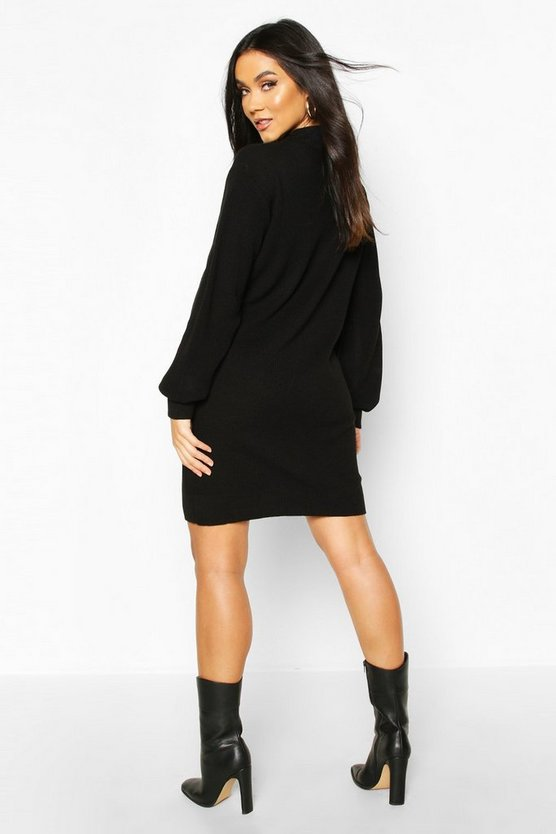 Maternity Turtle Neck Knitted Jumper Dress