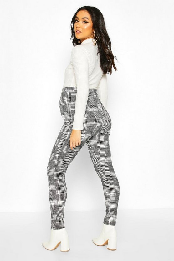 Maternity Check Tapered Trouser