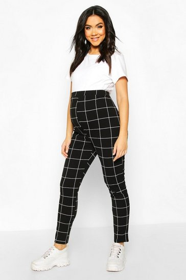 Womens Black Maternity Tapered Trouser