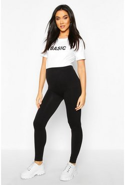 Maternity Seamless Leggings, Black