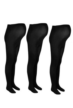 Dam Black Maternity 3 Pack 80 Denier Tights