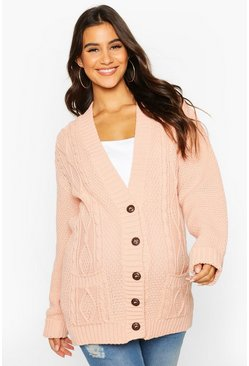 Blush Maternity Cable Knit Cardigan
