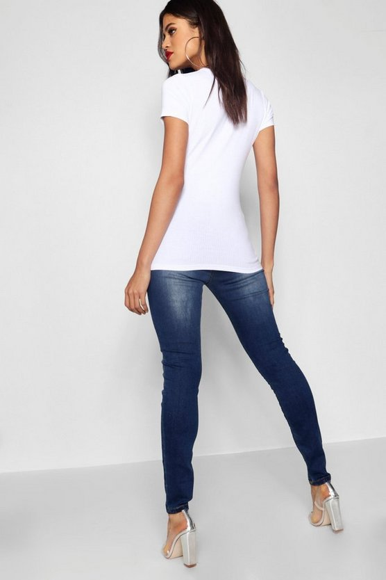 "Over The Bump 30"""" Leg Skinny Jean"
