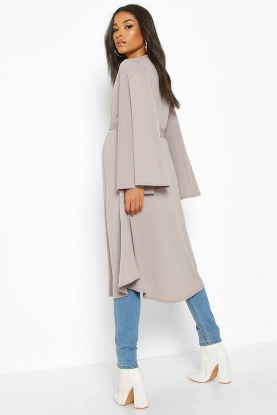Maternity Belted Duster Jacket