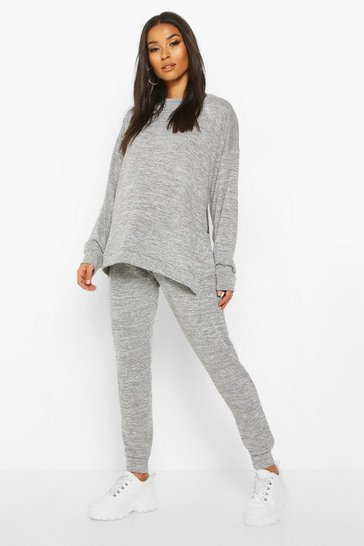 Light grey Maternity Side Split Lounge set
