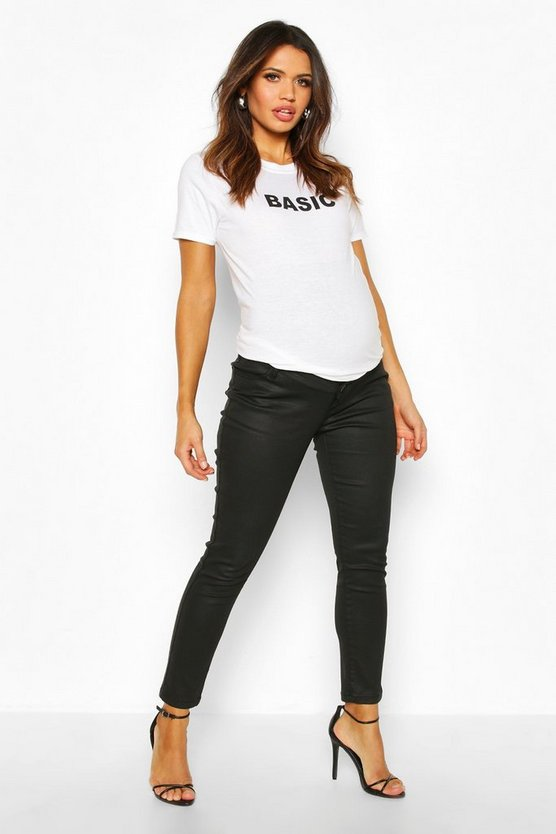 Maternity Coated Skinny Jean