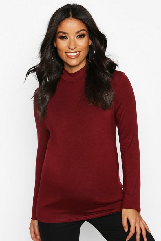 Maternity High Neck Jersey Top