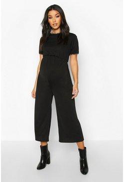 Online-Verkauf neueste Kollektion einzigartiges Design Umstandsmode Culotte-Jumpsuit mit freiem Rücken