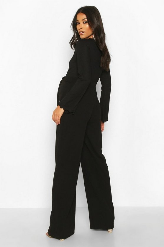 Maternity High Waisted Wide Leg Trousers