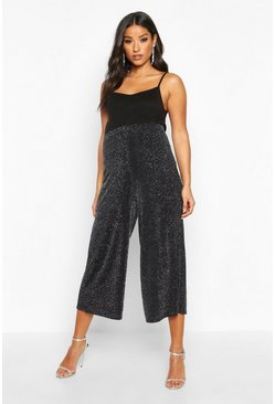 Silver Maternity Shimmer Culotte Pants