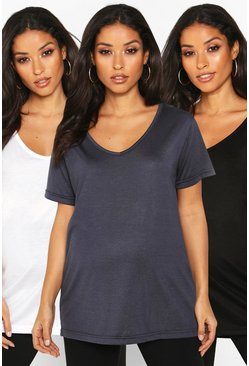 Multi Maternity 3 Pack Ultimate V-Neck T-Shirt