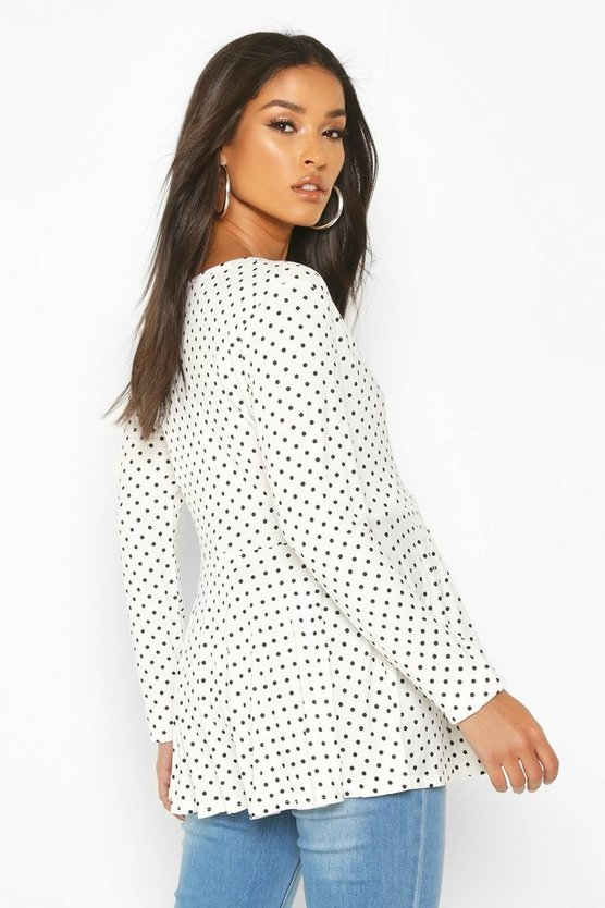 Maternity Polka Dot Wrap Top