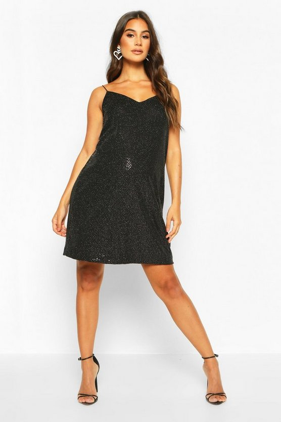 Maternity Sequin Cami Slip Dress
