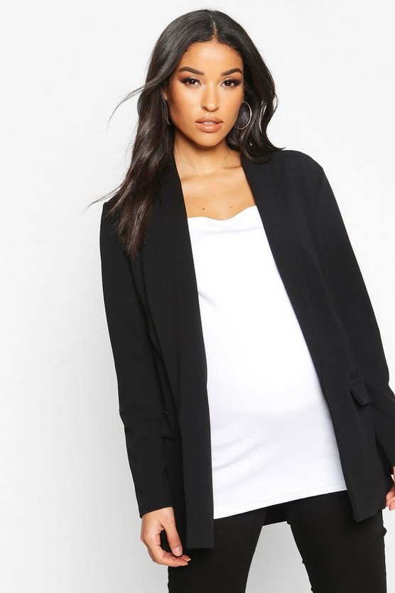 Womens Black Maternity Tailored Blazer