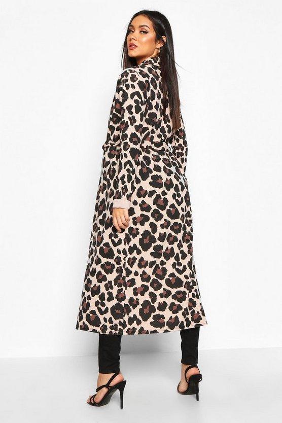 Maternity Leopard Print Duster Jacket
