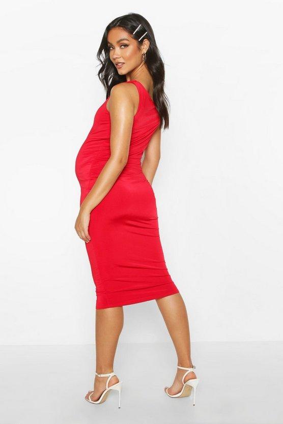 Maternity Double Layer Slinky Bodycon Dress