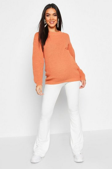 Womens Apricot Maternity Crew Neck Jumper