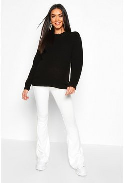 Womens Black Maternity Crew Neck Jumper
