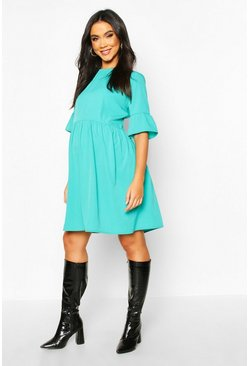 Emerald Maternity Woven Smock Dress