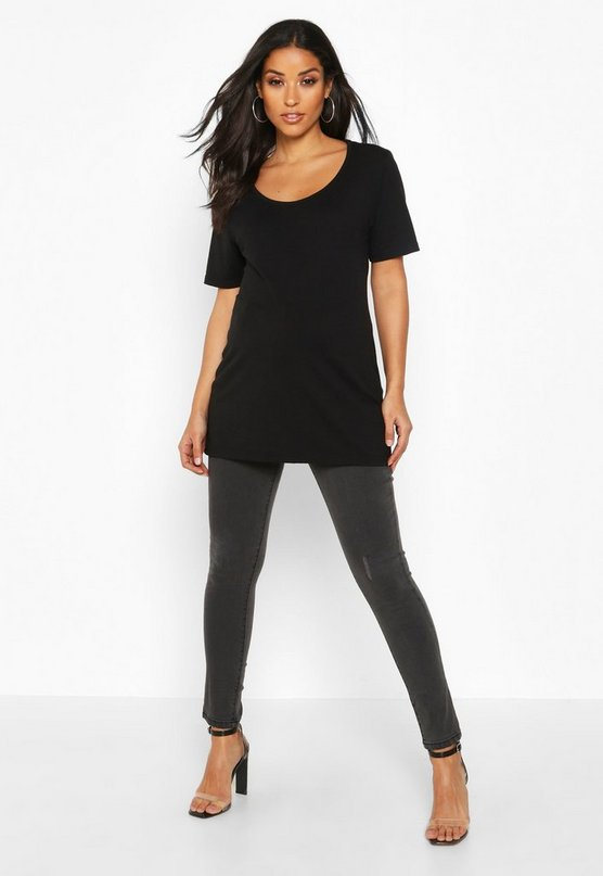 Womens Black Maternity Under The Bump Skinny Jean