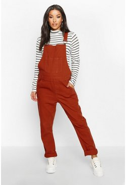 Rust Maternity Denim Overall