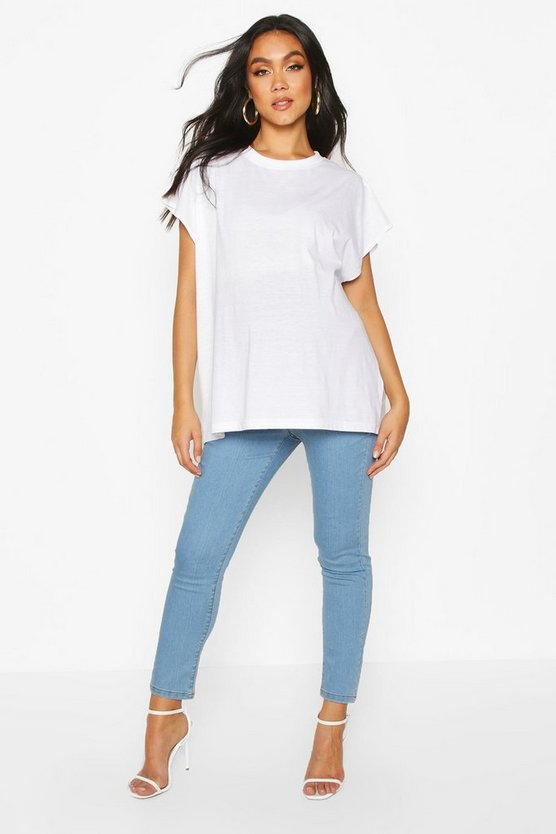 Womens Light blue Over The Bump Skinny Jean