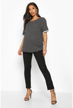 Womens Black Maternity Over The Bump Skinny Jean