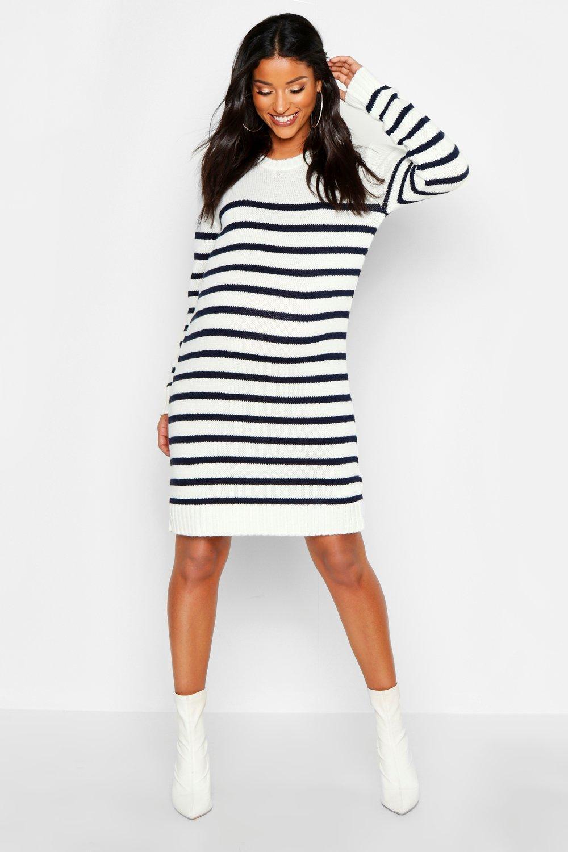 b3ce06106f Maternity Stripe Jumper Dress | Boohoo