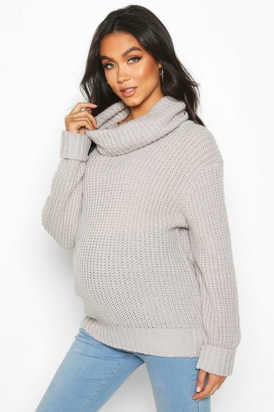 Maternity Roll Neck Jumper