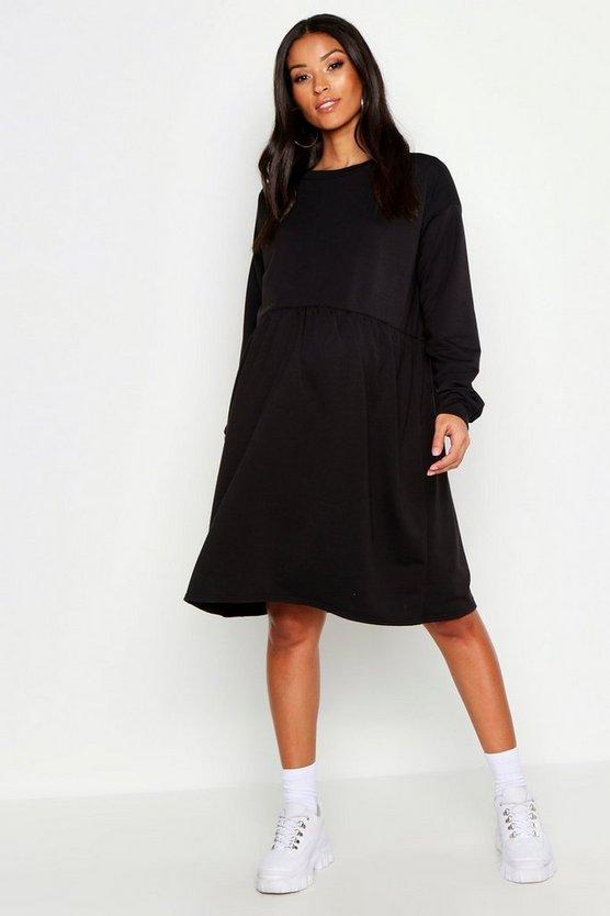 Maternity Sweat Smock Dress