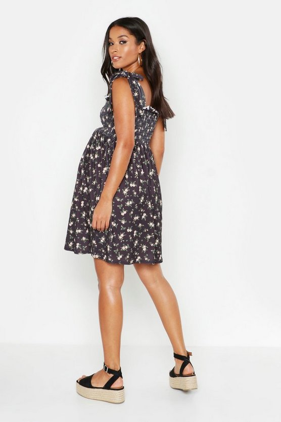 Maternity Shirred Ditsy Floral Sundress